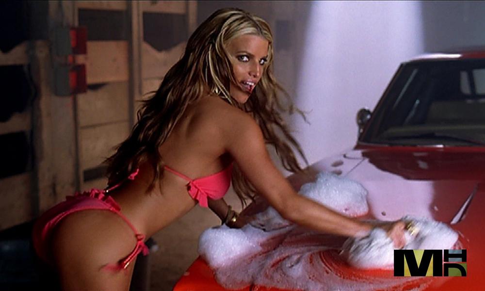 Jessica Simpson Bikini Car Wash